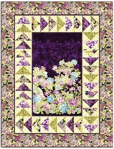"""From Mountainpeek Creations, another great """"Just Can't Cut It"""" pattern perfect for showcasing a gorgeous piece of focus fabric or fabric panel. Finished size: 58 1/2"""" x 74 1/2"""""""