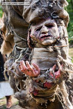 Larp Troll troll Costume detail (arm), couldbeworse-comic.com,  Fantasy mythology bodyparts