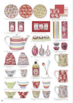 Greengate 2010 Latte Cups, Pantry Design, Romantic Homes, Shabby Chic Homes, Pencil Illustration, Teacups, Country Life, Colored Pencils, Decor Styles