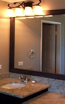 A Mirrormate Frame Was Added To The Plate Gl Mirror For An Instant Bathroom Update