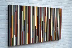Modern Wall Art Wood Sculpture - Abstract Painting on Wood via Etsy