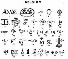 Pottery & Porcelain Marks - Belgium - United States