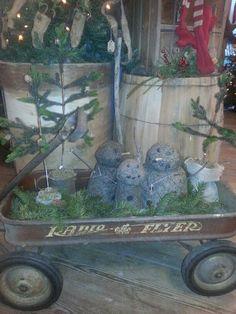 Wagon of snowman