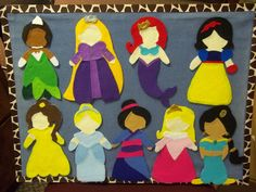 These are awesome patterns. Flannel Friday: Fairy Tale Princesses