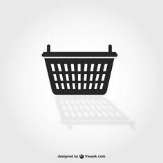 Símbolo de cesta de la compra | Free Vector #Freepik #freevector #venta #mano #compras #tienda Plastic Laundry Basket, Free Photos, High Quality Images, Symbols, Vector Freepik, Vectors, Canvas, Shopping, Design