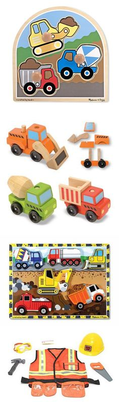 {Construction Toys} From wooden vehicles that lift and haul to giant building blocks, from role play sets to puppets, these building-site toys will inspire imaginations to reach towering new heights.