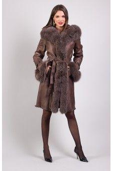 Veste fourrure marron femme http://www.prestigecuir.fr