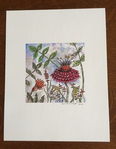 Tutu - A flower print from an original watercolor and ink painting by JustKimDesigns on Etsy