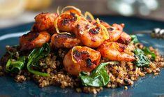 Πικάντικες γαρίδες με πλιγούρι, λιαστή ντομάτα και μυρωδικά
