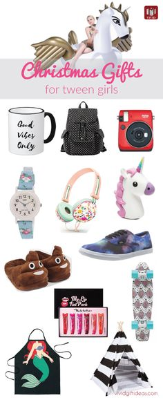 These are all I want for Christmas! Holiday gift guide for girls. Best Christmas gifts for tween girls.