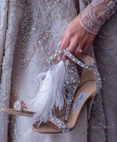 Vintage Shoes 30 Officially The Most Gorgeous Bridal Shoes ❤ gorgeous bridal shoes vintage sparkle heels jimmy choo ❤ See more: Silver Wedding Shoes, Wedge Wedding Shoes, Bridal Wedding Shoes, Bridal Heels, Wedding Bride, Lace Wedding, Sandals Wedding, Wedding Dresses, Wedding Pumps