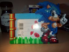 Sonic the Hedgehog  6x4 picture frame Hama Perler by ABeadsCStart