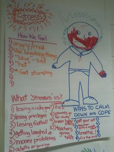 Stress and coping lesson Chart Paper Notes Grade 3