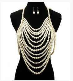Faux Pearl Body Chain Jewelry