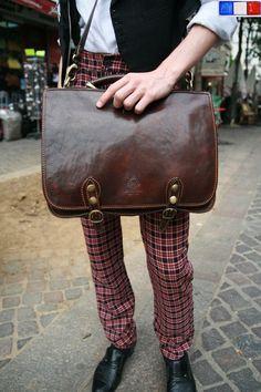 BAG + A FRENCH MAN'S PLAID PANTS