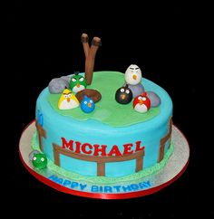 Simply Sweets Cake Studio Scottsdale Phoenix AZ Custom Cakes Cupcakes Chocolates Birthday For An Angry Birds Fan