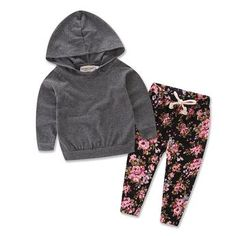 Baby Girls Floral Hoodie+ Floral Pant Set Leggings 2 Piece Outfits Grey): Package included: br br size 70 :length bust pant length ,for age Mbr size length bust pant length ,for age size length , bust pant length age size 100 :length bust pant length Legging Outfits, Printed Pants Outfits, Floral Pants Outfit, Floral Print Pants, Floral Leggings, Outfit Sets, Sweats Outfit, Baby Girl Newborn, Baby Winter