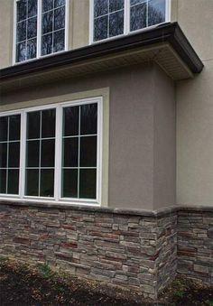 Exterior Signage Round - Exterior Cladding Grey - Home Exterior Shutters - Cheap Apartment Exterior Window Trim, Ranch Exterior, Paint Colors For Home, House Exterior, Exterior Signage, Exterior Design, Exterior Stone, Apartments Exterior, House Paint Exterior