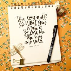 William C Hannan quote, Rise like the sun and burn By TeenyLetters