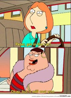 Of My Favorite Family Guy Episodes… One Of My Favorite Family Guy Episodes.One Of My Favorite Family Guy Episodes. Family Guy Funny, Family Guy Quotes, Family Humor, Love My Family, Adult Cartoons, Cool Cartoons, Family Guy Episodes, Funny Memes, Hilarious