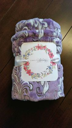 ON SALE Minky Blanket  Mar Bella Madrid Flower by SimplySplendidCo