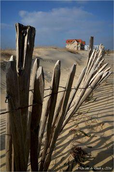 Maisons jumelles et grand hôtel de la plage Biscarrosse - Landes France