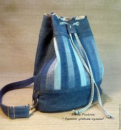 Женские сумки ручной работы. Ярмарка Мастеров - ручная работа. Купить сумка - рюкзак. Handmade. Удобная сумка, джинсовая сумка