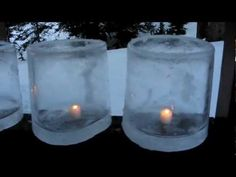 How to make ice candles! It's fun and easy, and they're beautiful.