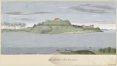'Fort Caliture' or 'The fortress of Kalutara seen from the river side', in Ceylon, Watercolor, C. Steiger, 1706 – 1710. Photo Credits – Rijksmuseum, Amsterdam. C. Steiger was a Dutch land surveyor & a painter from Northern Netherlands who painted a series of colour views of Dutch forts & settlements in Ceylon between 1706 & 1710. Eleven of his water colour paintings are known to exist to this day & were exhibited at the Colonial Historical Exhibition held at Amsterdam in 1883.