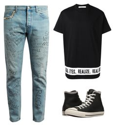 """Untitled #24"" by michelle-589 ❤ liked on Polyvore featuring Gucci, Givenchy, Converse, men's fashion and menswear"