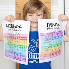 Printable Daily Routine for Kids Raise Your Hand, Kids Calendar, Bullet Journal Ideas Pages, Back To School, Diy And Crafts, Routine, Printables, Website, Free