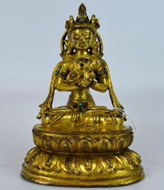 Christie's Paris - 16th C Tibet Gilt Vajradhara Lot 93 EST Price: USD 12,000 - 18,000 Start Price: USD 6,000 Tibet, Buddhism, Jade, Statues, Auction, Effigy
