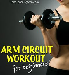 Beginner Strength Training Arm Workout with Weights