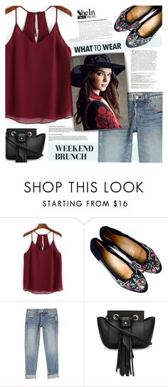 """Shein Top"" by tawnee-tnt ❤ liked on Polyvore featuring AMO and Balmain"