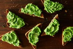 Minty Pea Purée on Toast, a recipe on Food52