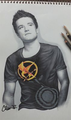 Josh Hutcherson Drawing Post-A-Drawing-Friday - Part 1. 'Hunger Games' related is the theme of today's drawings. Prismacolor pencils on Strathmore.