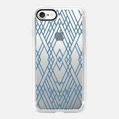 Map Mirror Outline Blue -  #casetifyiphone7 #iphone7 #geometric #abstract #phonecase