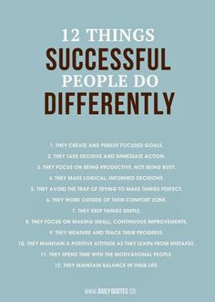 Successful People--#12 should be #1 in my book--Because if your life is out of balance. Everything else gets messed up