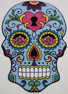 Sugar Skull Rug - Blue by Olli & Ash
