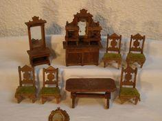 Kleine Gründerzeitmöbel, Salonmöbel für Puppenhaus, seltene kleine Größe