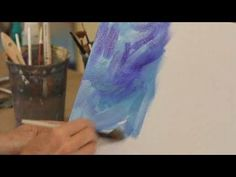 How to Paint with Acrylic Paint: Painting a Mottled Background