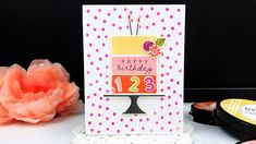 Just Dandy Studio: Ink to Paper - December Release Countdown - Day 4 Birthday Fun, Birthday Cards, Polka Dot Background, Caking It Up, New Cake, Cake Creations, Sorbet, Amazing Cakes, Hibiscus
