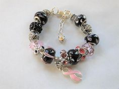 Breast Cancer Awareness Bracelet European Silver Plated Style