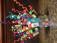 Katherine's 21st birthday present my husband and I made her! 21 bottles of fun!