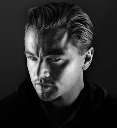 ♂ Black and white portrait Leonardo Dicaprio by Marco Grob