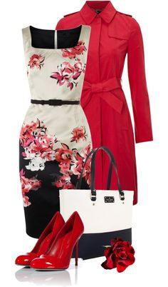 """""""red rose"""" by sagramora ❤ liked on Polyvore"""