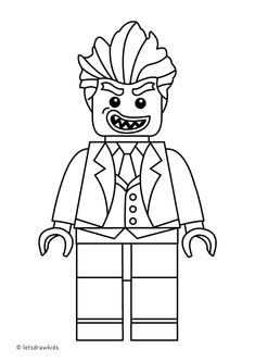 Coloring page for kids - LEGO JOKER from The LEGO BATMAN Movie