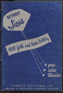 detroit lions 1950s football | Details about 1950 Detroit Lions NFL Football Press Radio TV Media ...