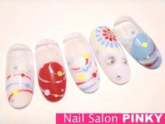水風船×花火の夏祭りネイル★|PINKY's nailog