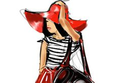 I will draw a fashion sketch of you in your favorite outfit.